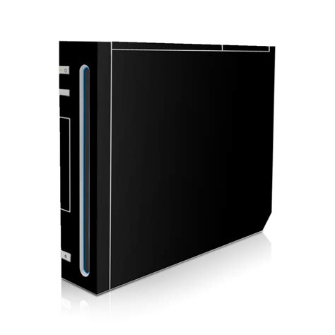 wii skin solid state black  solid colors decalgirl