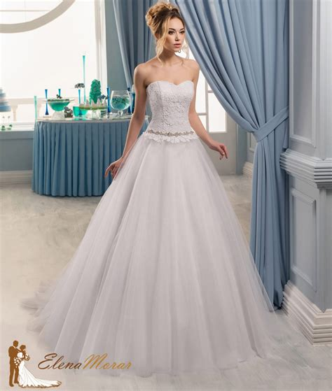 Robe Tulle Mariage - robe de mariage princesse en tulle et bustier dentelle oxana
