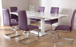 Contemporary Dining Tables Sets Tokyo Perth Extending Dining Set Purple Only 163 599 99 Furniture Choice