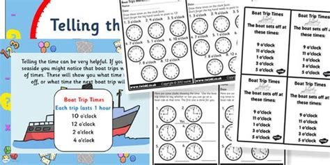 boat pictures twinkl twinkl resources gt gt telling the time boat trip times