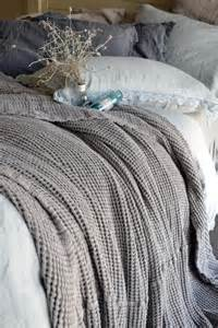 fossil grey waffle textured linen quilt bed cover linen