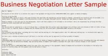 business negotiation letter sample samples business letters