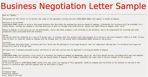 Negotiation Letter Business Negotiation Letter Sle Sles Business Letters