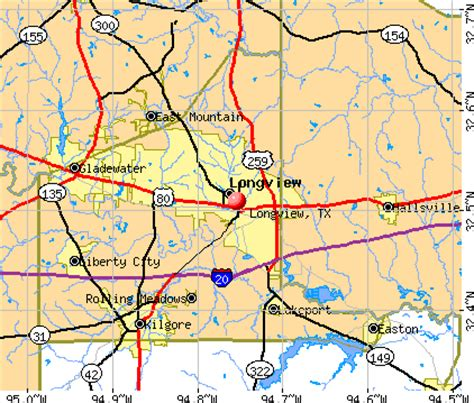 where is longview texas on a map longview texas tx 75601 75602 profile population maps real estate averages homes
