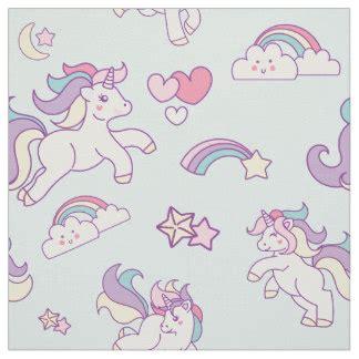 pastel unicorn pattern unicorn fabric zazzle