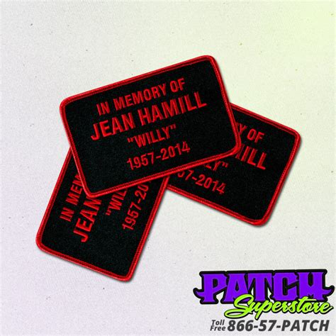 custom patches embroidered patches patchsuperstore custom memorial patch patchsuperstore