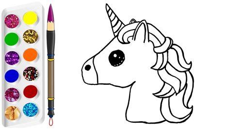 imagenes unicornios para dibujar c 243 mo dinujar y colorear unicornio de arco iris dibujos