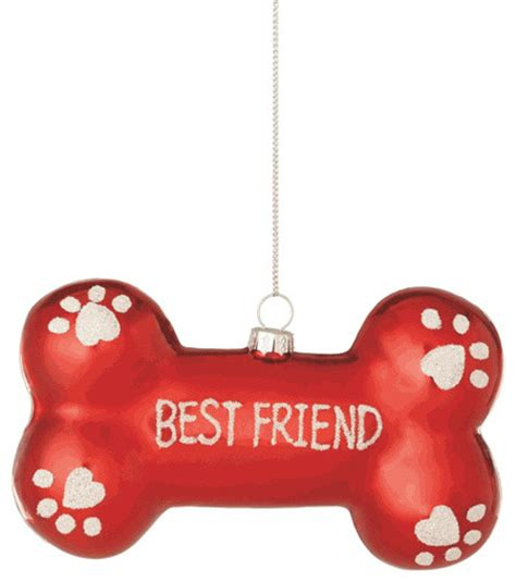 dog bone best friend christmas tree ornament pet doggy