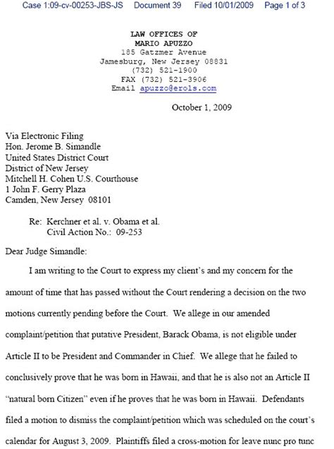 Response Letter To Inquiry letter of inquiry by atty apuzzo sent to judge simandle 1