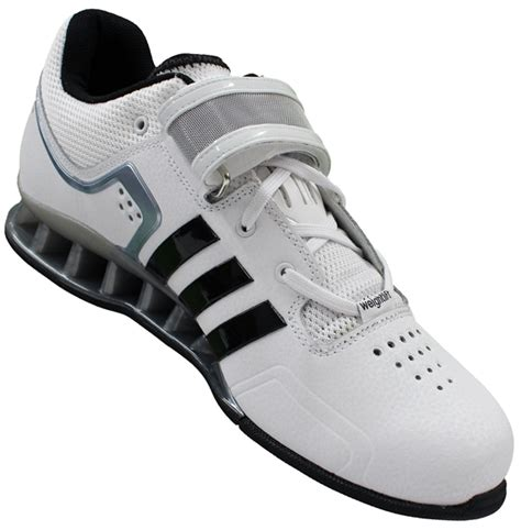 s powerlifting shoes adidas adipower weightlifting shoes white black grey model
