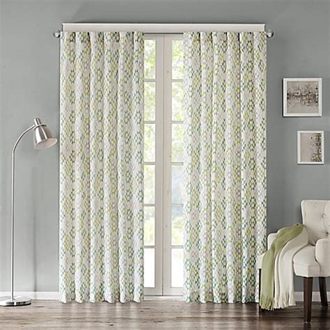 tuscany curtains buy ink ivy tuscany 63 inch rod pocket geometric window