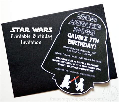 printable star invitations star wars darth vader printable birthday invitation diy