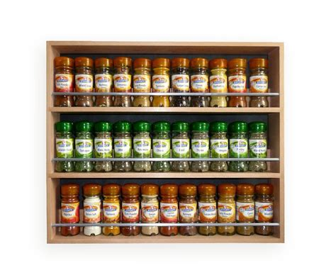 Herb Racks And Spices by Style Solid Beech Spice Rack 3 Tiers
