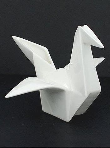 Origami Pottery - i me origami cranes and porcelain vase on