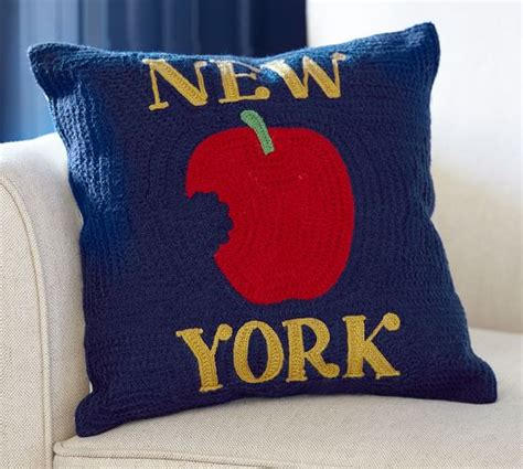 New York City Pillows by New York City Crewel Embroidered Pillow Pottery Barn