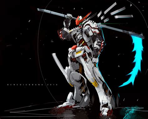 wallpaper gundam barbatos gundam barbatos fanart by benedickbana on deviantart