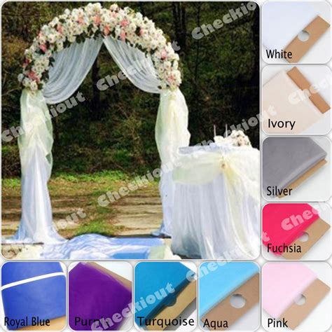 90 quot white metal arch 54 quot x40 yards tulle wedding