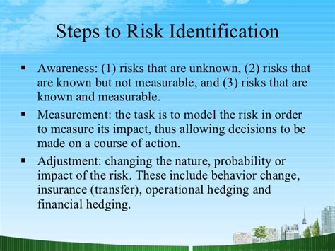 Mba Financial Risk Management by Financial Risk Management Ppt Mba Finance