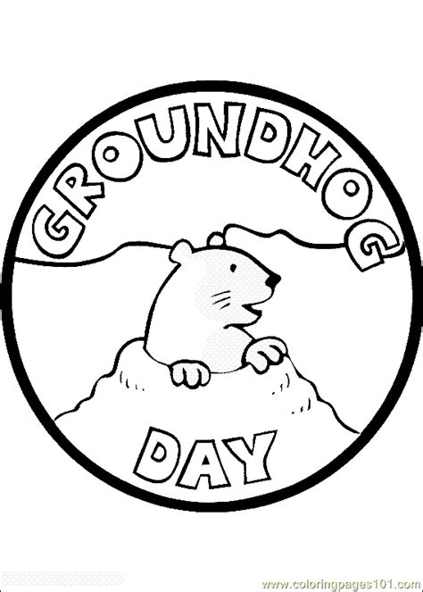 groundhog day number of days free printable coloring image groundhog day coloring page 11