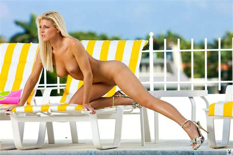 Wallpaper Nikki Lee Young Playboy Lounge Chair Nude Tits Pussy Blonde Beautiful Female