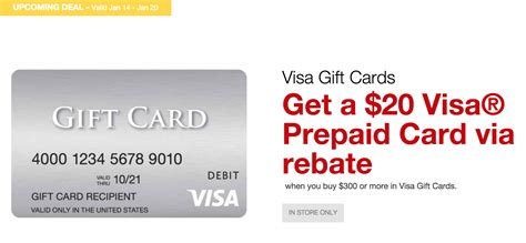 visa gift card fine print expired now live staples get 20 visa rebate with