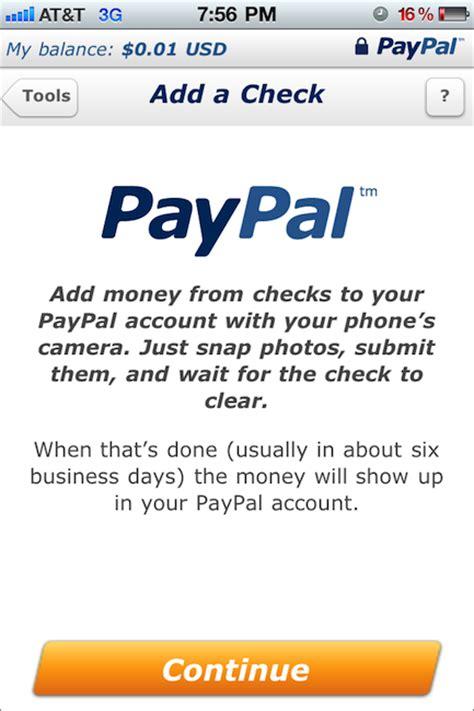 Paypal Background Check La Aplicaci 243 N De Paypal Para El Iphone Ahora Captura Cheques Applediario