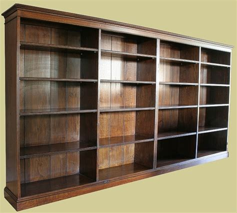 oak reproduction bookcase oak bookshelves glazed
