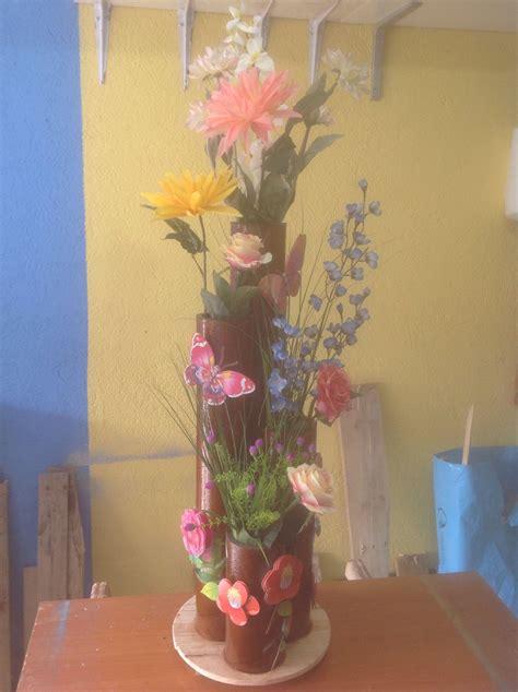 floreros tubos de carton florero de tubos de carton prensado y pino manualidades