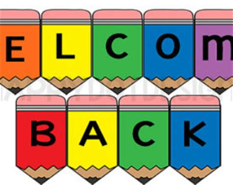 printable welcome banner for classroom printable welcome back banner classroom sign rainbow pencils