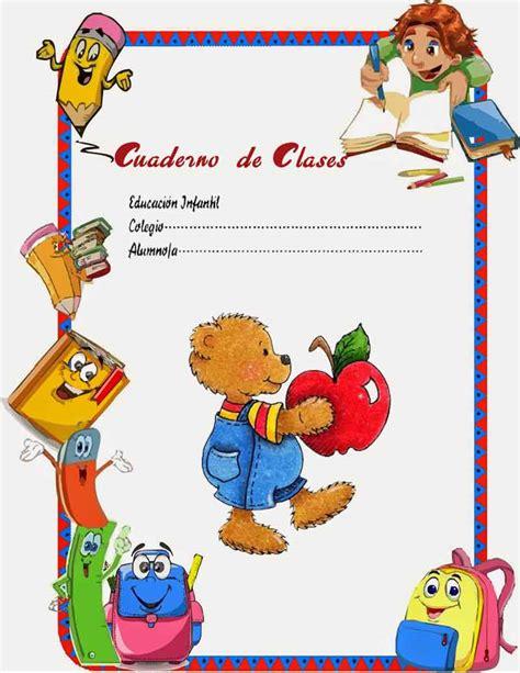 imagenes trabajos escolares caratulas color cuadernos escolares infantiles dibujos