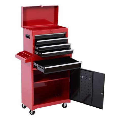 deluxe 5 drawer rolling tool cabinet chest removable tool