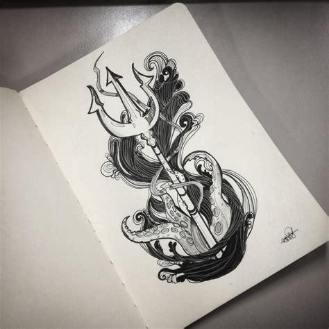 poseidon trident tattoo poseidon s trident design steemit