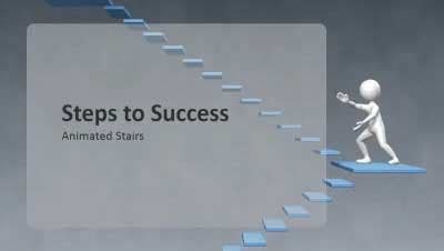 steps to success a powerpoint template from