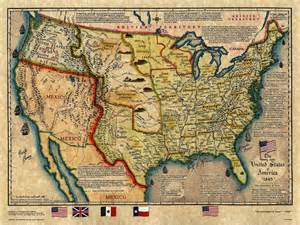historical maps of united states historical map u s map 1845
