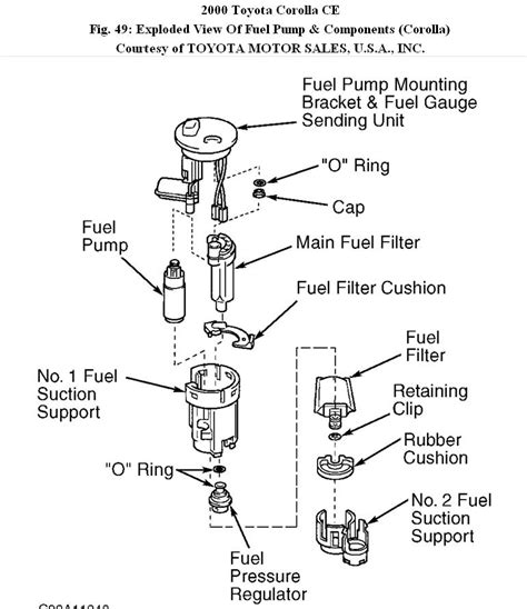 2000 toyota corolla fuel 00 corolla fuel filter hello all how do i connect the
