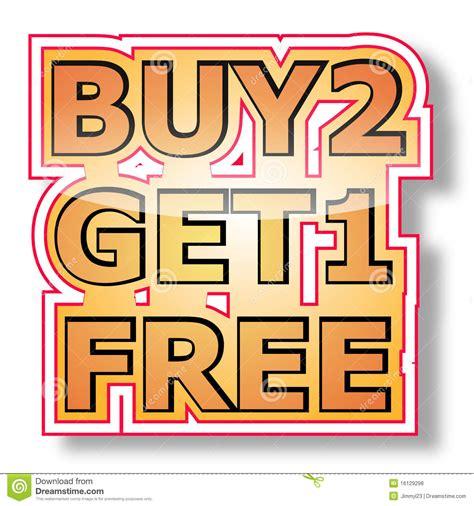 one free buy 2 get 1 free royalty free stock photos image 16129298