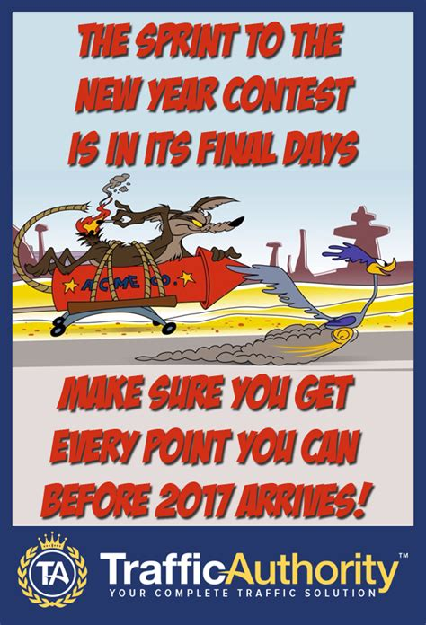 new year time out sprint to the new year contest time is running out