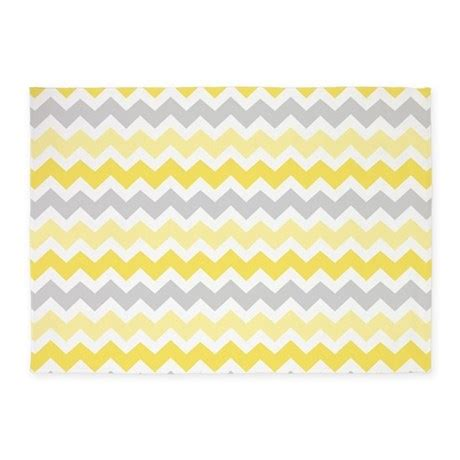 yellow and grey chevron rug yellow grey white chevron 5 x7 area rug by dreamingmindcards