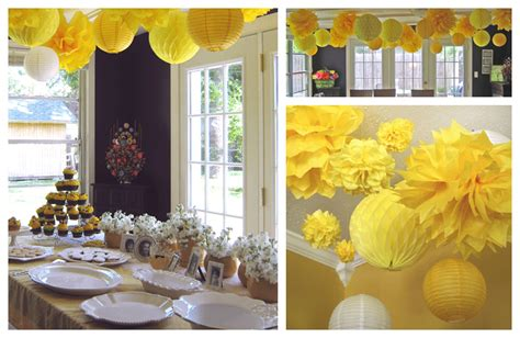 yellow decor ideas parties yellow black white and bees design dazzle