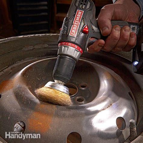 how to refinish wheels the family handyman