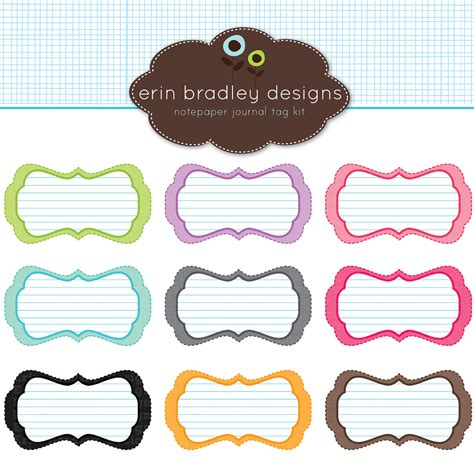 design name tag cdr digital scrapbooking tags clipart best