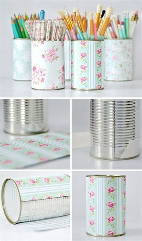 kerzenhalter selber basteln papier basteln mit konservendosen 61 tolle ideen daf 252 r