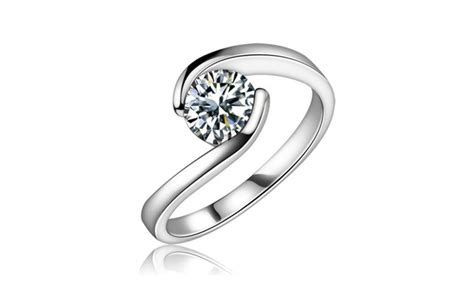 groupon haircut ct 0 75 ct ladies round cut diamond anniversary ring groupon