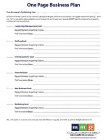 One Page Business Plan Template Cyberuse One Page Business Plan Template