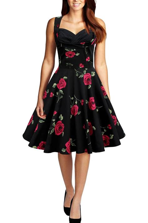Sepatu Circle Clothing 012 C black butterfly clothing vintage style 1950 s dress