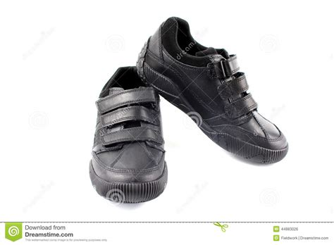 black and white school shoes boys children s new black school shoes stock photo image