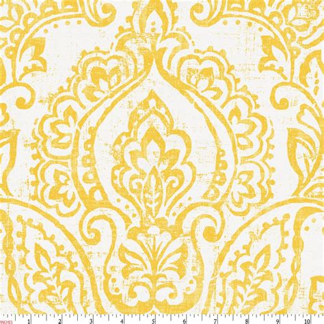pale yellow pattern fabric white and yellow vintage damask fabric by the yard