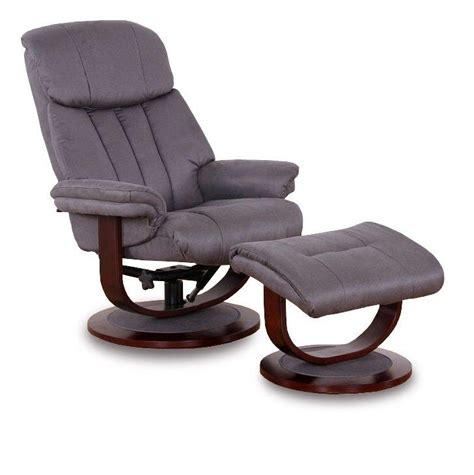 fauteuil everstyle affinity fauteuil relax avec repose pieds microfibre boa gris fonce