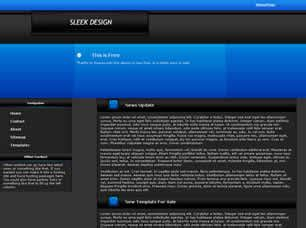 Sleek Design Free Website Template Free Css Templates Free Css Sleek Website Templates