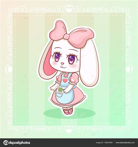 Sweet Rabbit Pink by Sweet Rabbit Kawaii Anime Bunny